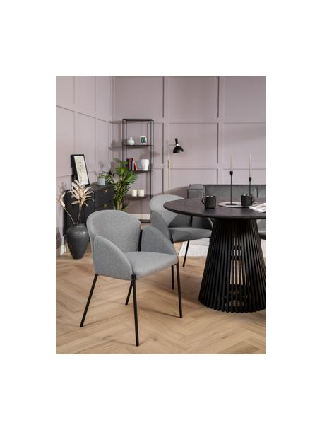 Krzesło tapicerowane Malingu, Tapicerka: 95% poliester, 5% bawełna, Stelaż: metal lakierowany, Szary, S 60 x G 60 cm