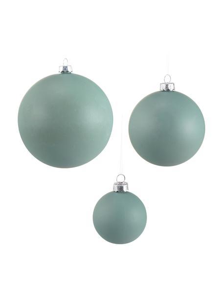 Set palle di natale Ammos 12 pz, Plastica infrangibile, Verde, Larg. 25 x Alt. 13 cm