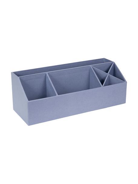 Organizer da ufficio Elisa, Solido, cartone laminato, Grigio-blu, Larg. 33 x Alt. 13 cm