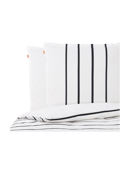 Parure copripiumino reversibile in cotone Blush, Cotone, Bianco, nero, rosa, 220 x 240 cm