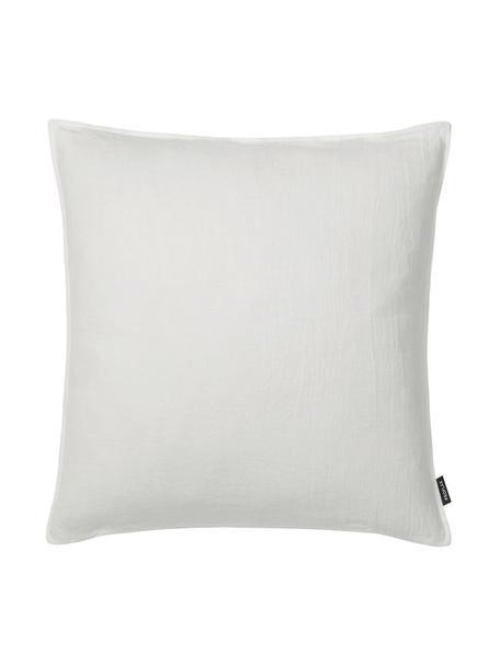 Poszewka na poduszkę z lnu z efektem sprania Sven, 100% len, Złamana biel, S 60 x D 60 cm