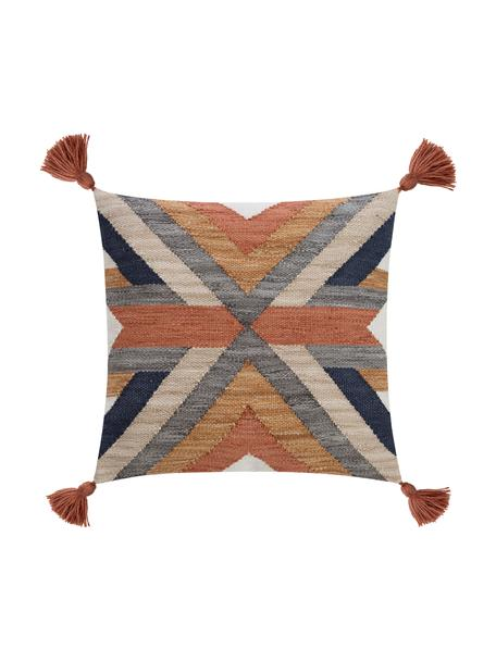 Federa arredo con nappe Nouria, Retro: 100% cotone, Multicolore, Larg. 50 x Lung. 50 cm