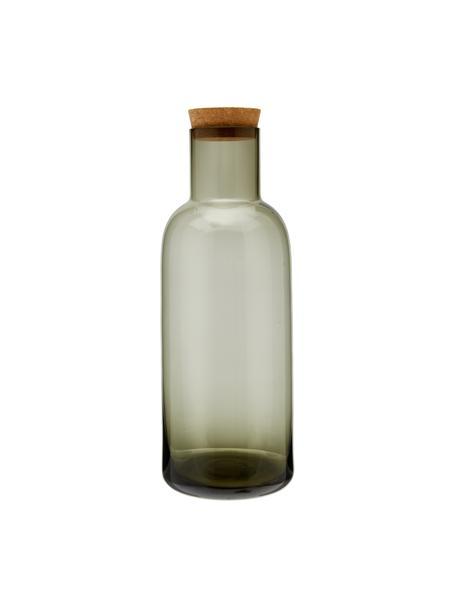 Jarra de vidrio con tapón de corcho Clearance, 1L, Gris, transparente, Al 25 cm