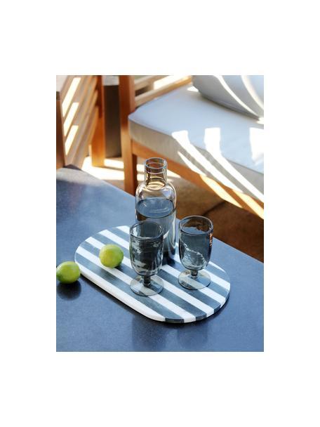 Glazen karaf Clearance in grijs met kurken deksel, 1 L, Deksel: kurk, Grijs, transparant, H 25 cm