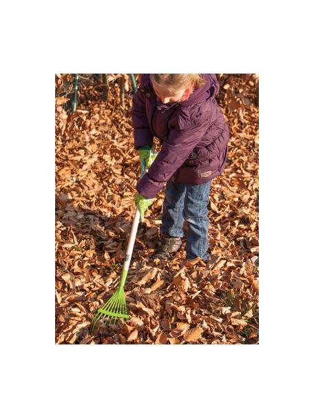 Kinderhark Little Gardener, Hout, gecoat metaal, Groen, beige, 19 x 83 cm