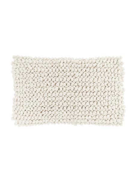 Funda de cojín en tejido de bolitas Iona, Parte delantera: 76%poliéster, 24%algodó, Parte trasera: 100%algodón, Beige, An 30 x L 50 cm