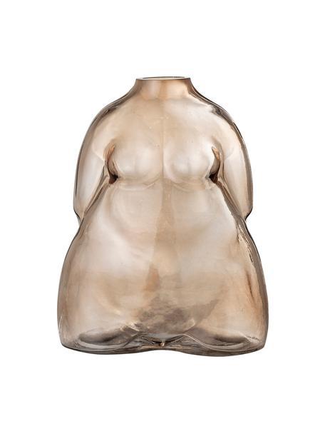 Wazon ze szkła Evie, Szklanka, Brązowy, transparentny, S 15 x W 19 cm