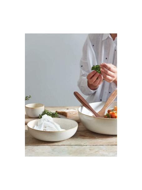 Suppenteller Saisons aus Steingut in Beige Ø 21 cm, 6 Stück, Steingut, Beige, Ø 21 x H 6 cm
