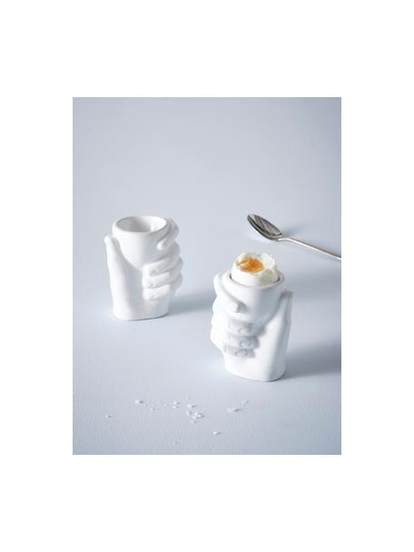 Komplet kieliszków do jajek, 2 elem., Porcelana, Biały, S 8 x W 10 cm