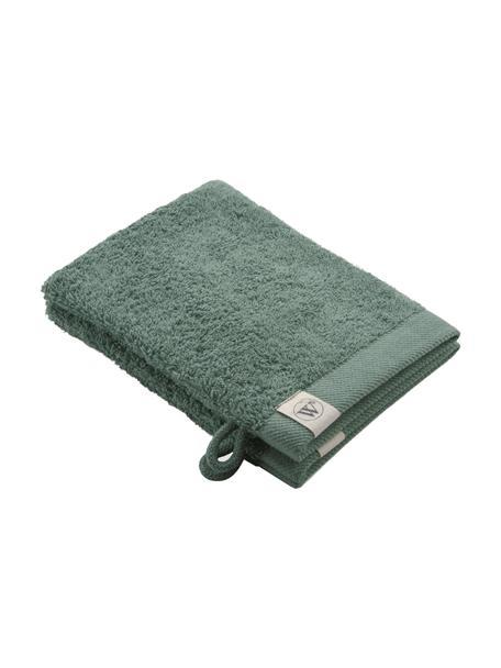 Waschlappen Blend aus recyceltem Baumwoll-Mix, 2 Stück, Grün, 16 x 21 cm