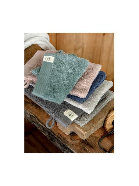 Guanto spugna da bagno in misto cotone riciclato Blend 2 pz, Verde, Larg. 16 x Lung. 21 cm