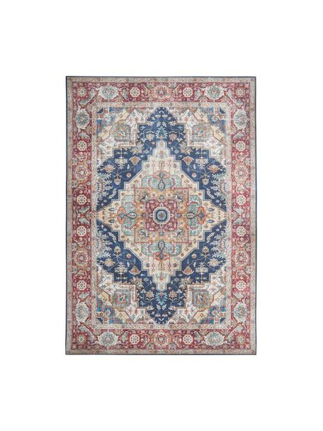 Vintage Teppich Sylla in Dunkelrot/Blau, 100% Polyester, Blau, Rot, B 200 x L 290 cm (Größe L)