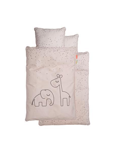 Pościel do łóżeczka Dreamy Dots, 100% bawełna, certyfikat Oeko-Tex, Blady różowy, 100 x 140 cm + 1 poduszka 40  x 60 cm