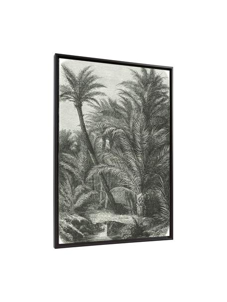 Oprawiony druk cyfrowy Bamidele, Zielony, beżowy, S 60 x W 90 cm