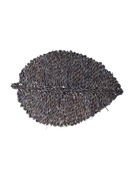 Seegras-Tischset Isla in Grau, Seegras, gefärbt, Grau, 50 x 34 cm