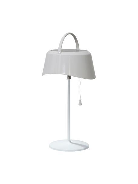 Solar outdoor tafellamp Cervia, Lampenkap: kunststof, Lampvoet: kunststof, Wit, L 18 x H 36 cm