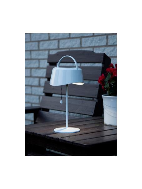 Zewnętrzna solarna lampa stołowa Cervia, Biały, D 18 x W 36 cm