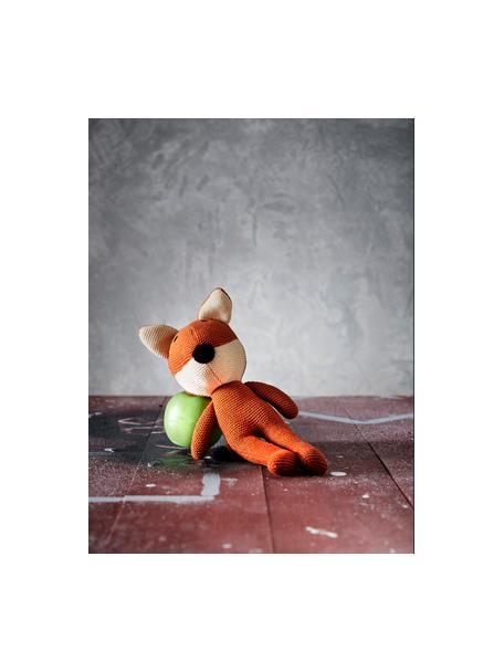 Kuscheltier Wilder, Bezug: 100% organische Baumwolle, Orange, 14 x 33 cm