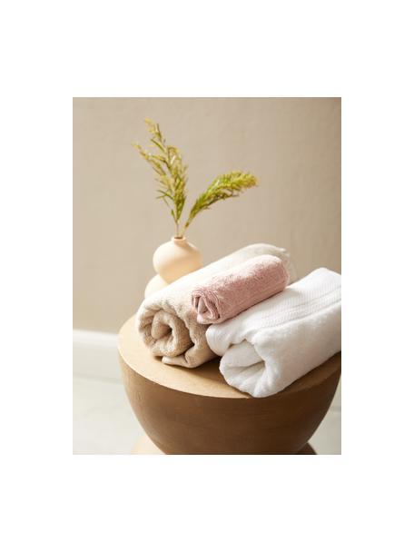 Asciugamano con bordo decorativo classico Premium, Rosa cipria, Asciugamano per ospiti Larg. 30 x Lung. 30 cm