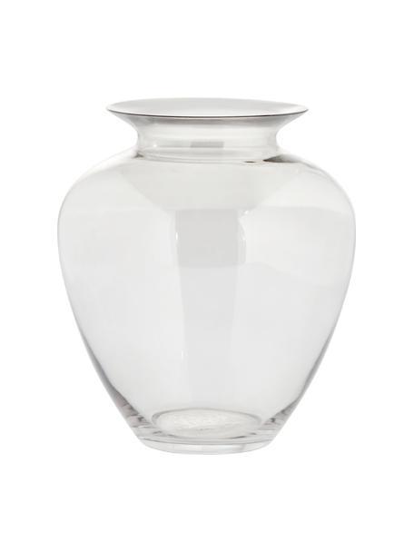 Jarrón de vidrio sopaldo artesanalmente Milia, Vidrio, Transparente, Ø 22 cm