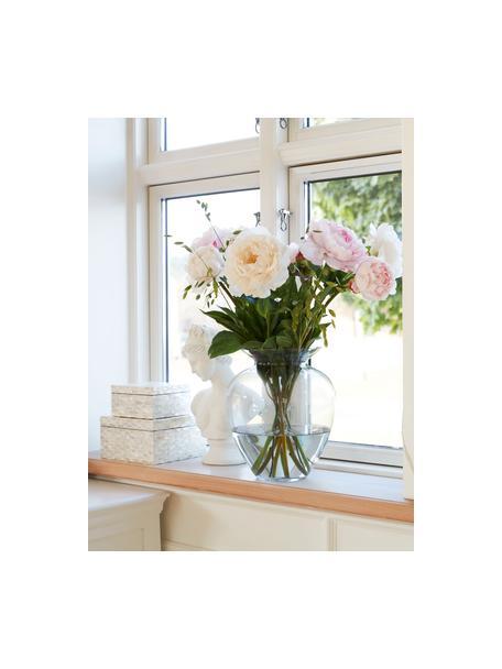 Mondgeblazen glazen vaas Milia, Glas, Transparant, Ø 22 cm