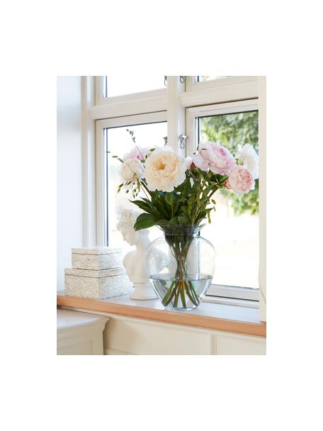 Mundgeblasene Glas-Vase Milia, Glas, Transparent, Ø 22 cm