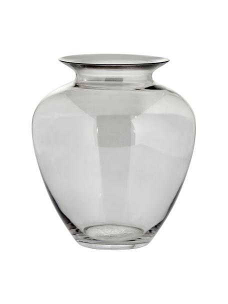 Jarrón de vidrio sopaldo artesanalmente Milia, Vidrio, Gris transparente, Ø 22 cm