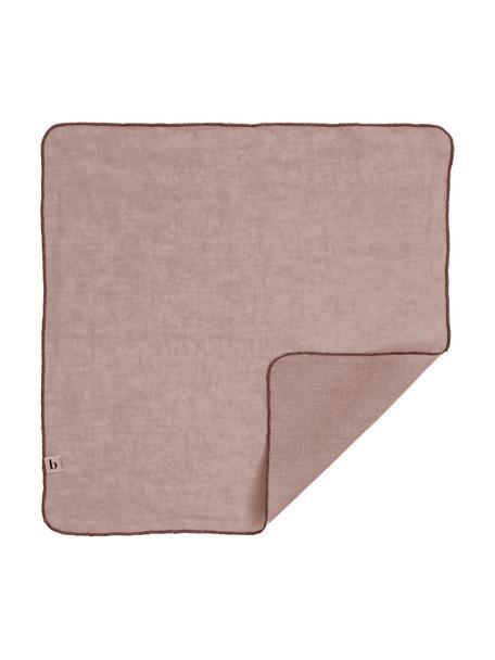 Linnen servetten Gracie in roze, 2 stuks, 100% linnen, Roze, 45 x 45 cm