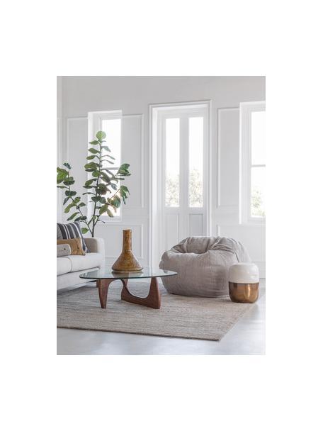 Worek do siedzenia ze sztruksu Velours, Tapicerka: 88%nylon, 12%poliester , Odcienie platynowego, Ø 110 x W 70 cm