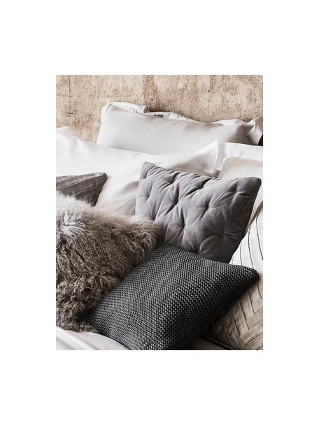 Funda de cojín de punto de algodón ecológico Adalyn, 100%algodón ecológico, certificado GOTS, Gris oscuro, An 40 x L 40 cm