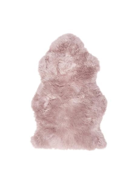 Schapenvacht Oslo, glad, Bovenzijde: 100% schapenvacht, Onderzijde: 100% leer, chroomvrij gel, Roze, 60 x 90 cm