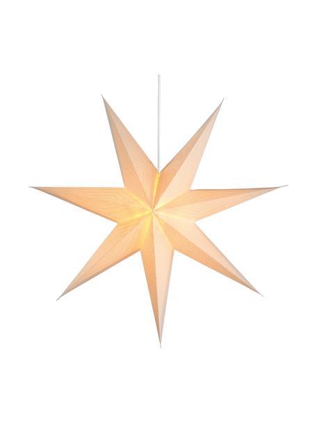 Estrella luminosa LED grande Amelia, Ø60cm, con enchufe, Papel, Blanco, An 60 x Al 60 cm