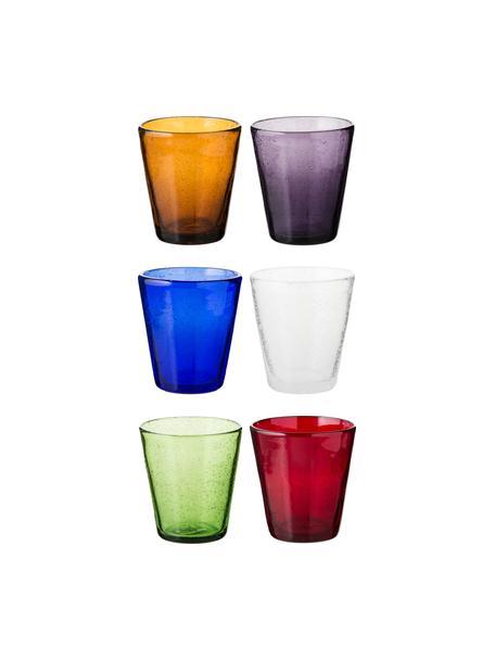 Komplet szklanek do wody ze szkła dmuchanego  Cancun, 6elem., Szkło dmuchane, Wielobarwny, Ø 9 x W 10 cm