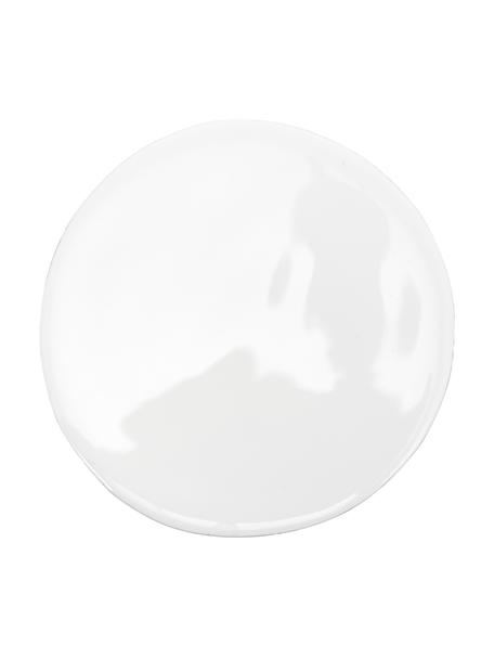Witte onderzetters Lugo van mangohout, 4 stuks, Mangohout, Wit, mangohoutkleurig, Ø 10 x H 2 cm