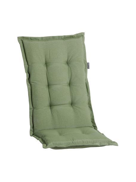 Einfarbige Hochlehner-Stuhlauflage Panama in Salbeigrün, 50% Baumwolle, 45% Polyester, 5% andere Fasern, Salbeigrün, 50 x 123 cm