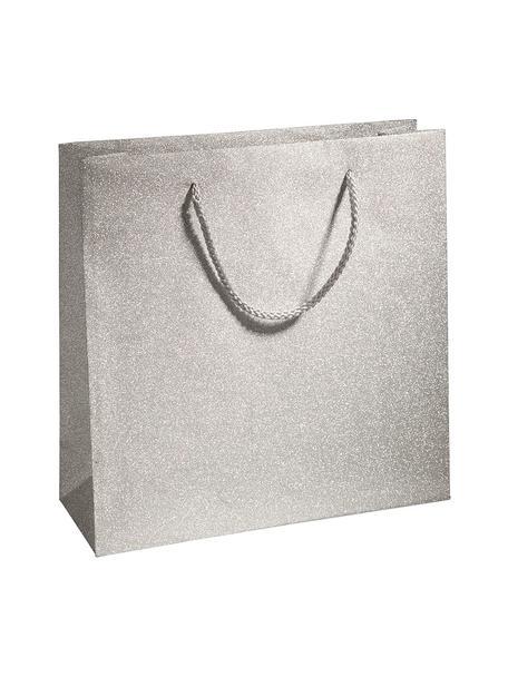 Sacchetti regalo Sublime 3 pz, Polipropilene, Argentato, Larg. 28 x Alt. 28 cm