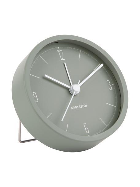 Despertador Numbers & Lines, Metal recubierto, Verde, Ø 9 cm
