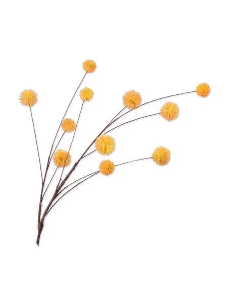 Kunstblume Distel, Orange, Kunststoff, Metalldraht, Orange, L 91 cm