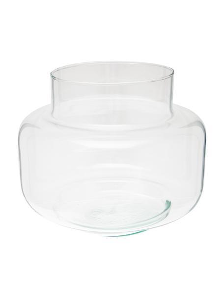 Vaso tondo in vetro riciclato Dalia, Vetro riciclato, Trasparente, Ø 22 x Alt. 18 cm