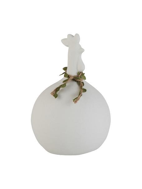 Figura decorativa Chicken, Gres, Blanco, Ø 14 x Al 21 cm