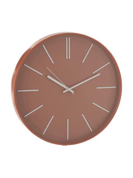 Reloj de pared Alex, Plástico, Terracota, Ø 41 cm