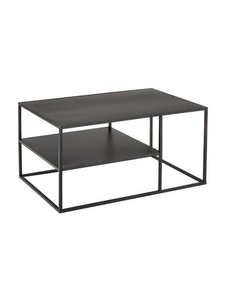 Mesa de centro de metal Newton, Metal con pintura en polvo, Negro, An 90 x Al 45 cm
