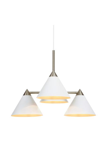 Pendelleuchte Klint, Baldachin: Metall, beschichtet, Weiß, Silberfarben, Ø 57 x H 46 cm