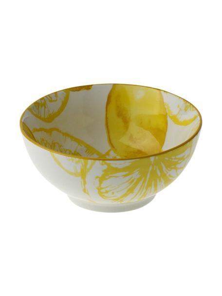 Schälchen Lemon mit Zitronen-Motiv, porzellan, Weiss, Gelb, Ø 14 x H 7 cm