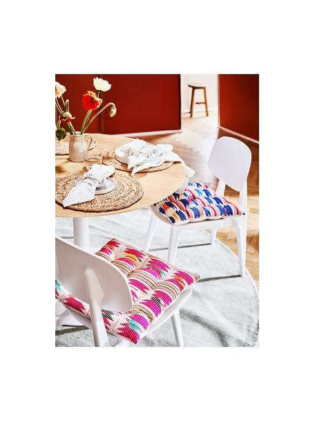 Cojín de asiento Maria, Multicolor, beige, An 40 x L 40 cm