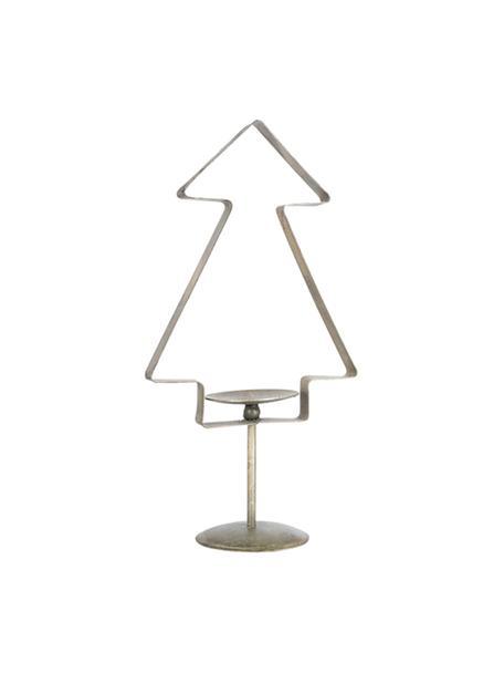 Świecznik Tree, Metal powlekany, Odcienie mosiądzu, S 20 x W 39 cm