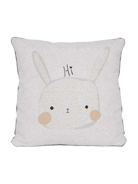 Poszewka na poduszkę Rabbit, Poliester, Biały, beżowy, szary, czarny, S 45 x D 45 cm