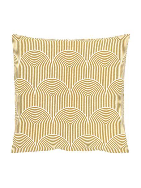 Kissenhülle Arc in Gelb/Weiß, 100% Baumwolle, Gelb, 45 x 45 cm
