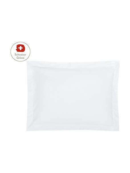 Baumwollsatin-Kissenbezug Premium in Weiss mit Stehsaum, 50 x 70 cm, Webart: Satin, leicht glänzend Fa, Weiss, 50 x 70 cm