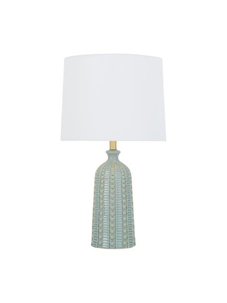 Duża lampa stołowa z ceramiki Nizza, Szałwiowa zieleń, Ø 33 x W 60 cm